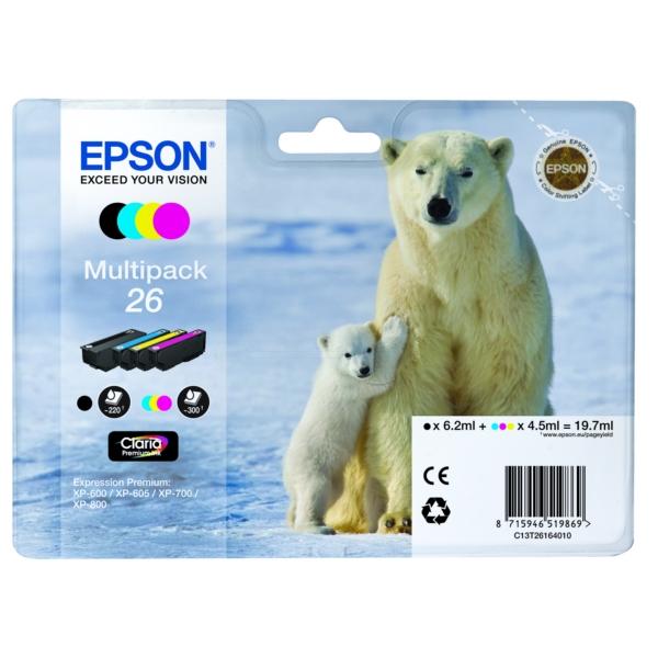 Original Epson C13T26164511 / 26 Tintenpatrone MultiPack