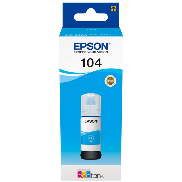 Original Epson C13T00P240 / 104 Tintenpatrone cyan