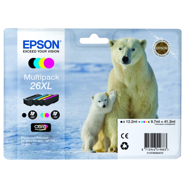 Original Epson C13T26364511 / 26XL Ink cartridge multi pack