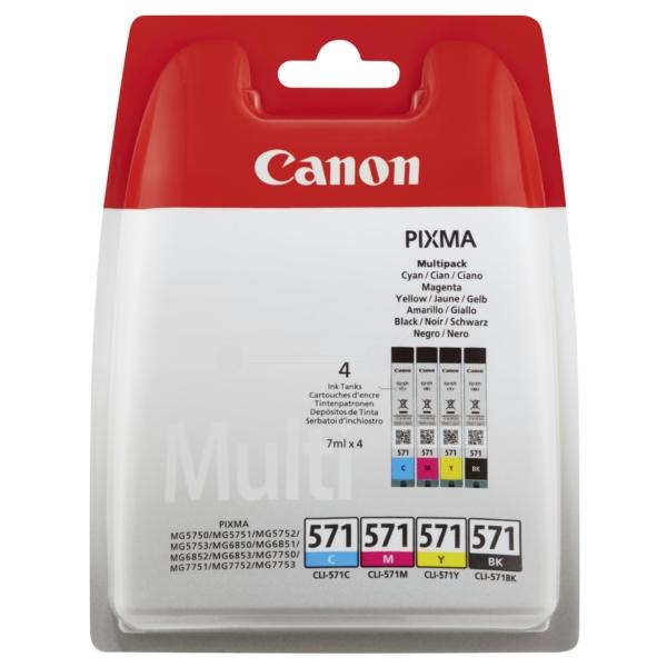 Original Canon 0386C007 / CLI571 Tintenpatrone MultiPack