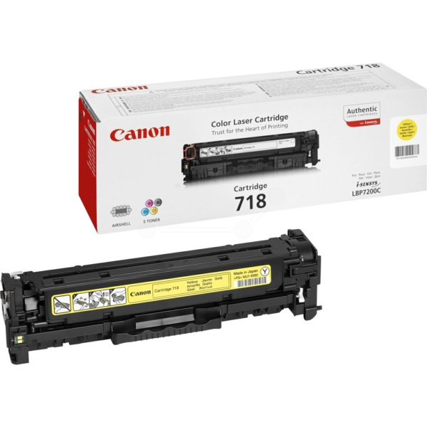 Original Canon 2659B014 / 718Y Toner yellow