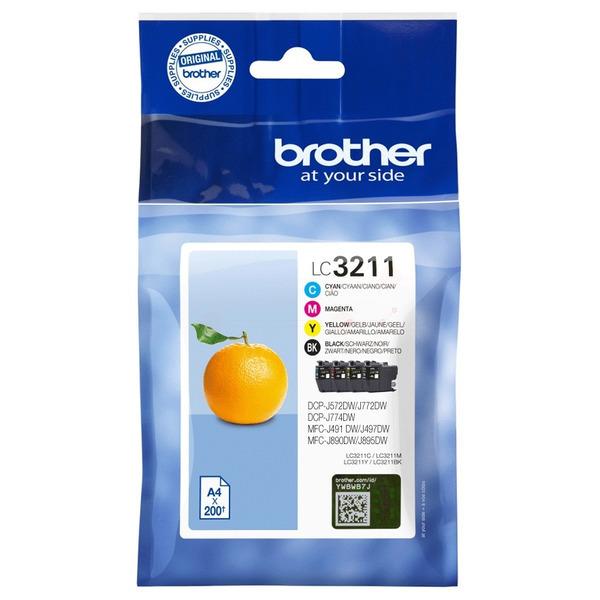 Original Brother LC3211VAL Tintenpatrone MultiPack