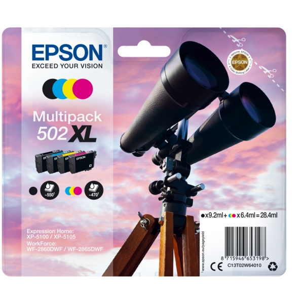 Original Epson C13T02W64020 / 502XL Tintenpatrone MultiPack