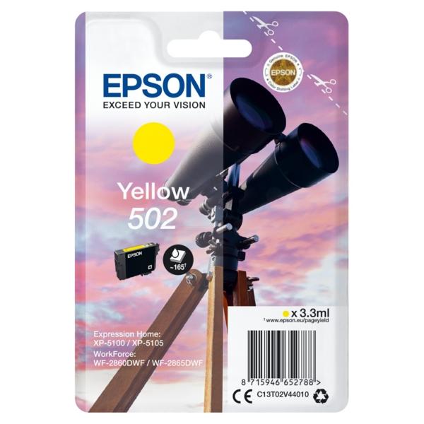 Original Epson C13T02V44020 / 502 Tintenpatrone gelb