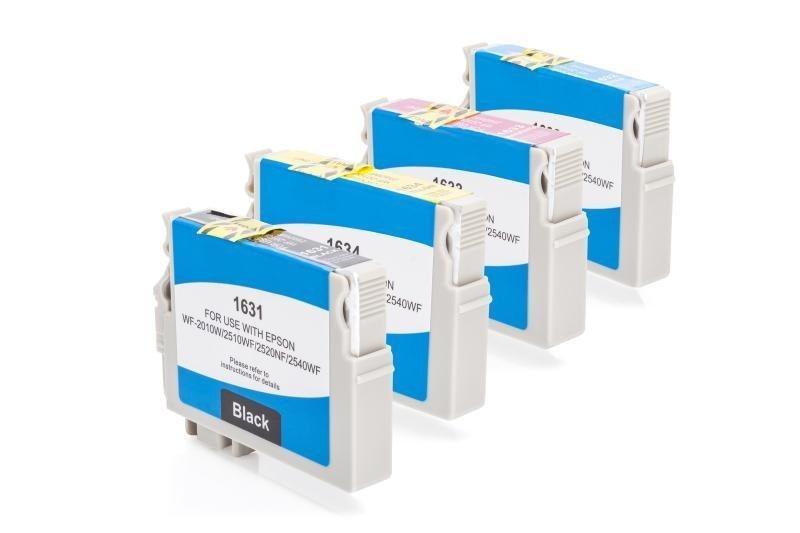 Kompatibel zu Epson C13T16364010 / C13T16364012 / T1636 Tinten Spar-Set (Schwarz, Cyan, Magenta, Gelb)