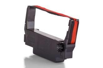Kompatibel zu Epson C43S015376 / ERC-38-BR Farbband Schwarz, Rot