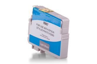 Kompatibel zu Epson C13T09674010 / T0967 Tinte Light Schwarz