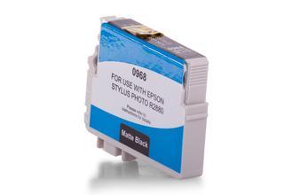 Kompatibel zu Epson C13T09684010 / T0968 Tinte schwarz matt
