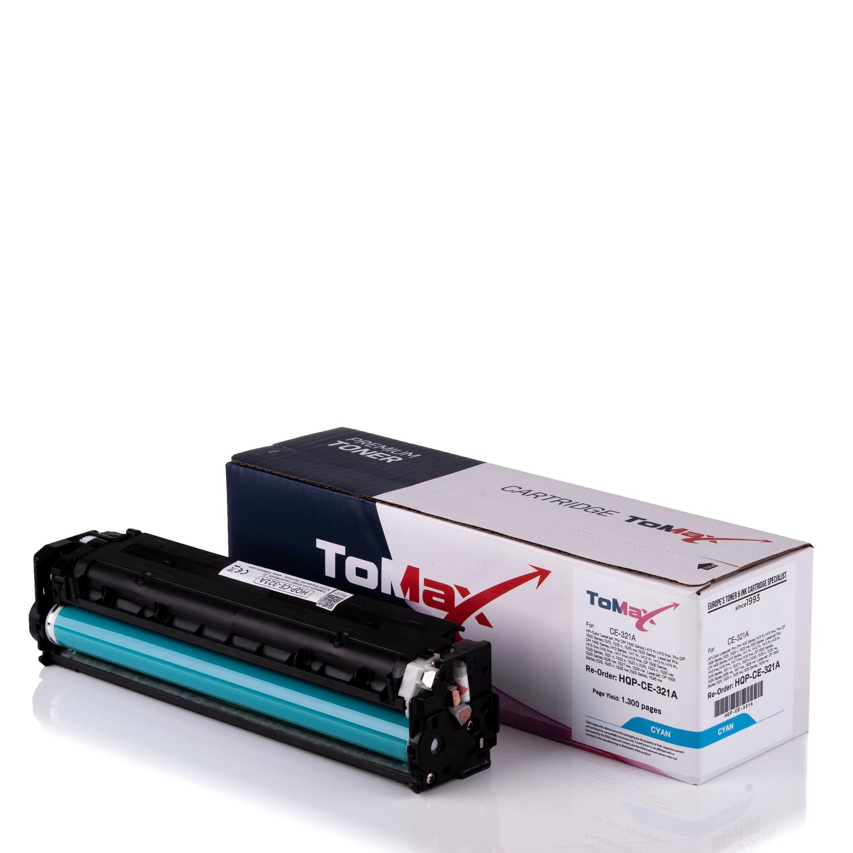 ToMax Premium Toner ersetzt HP CE321A / 128A Cyan