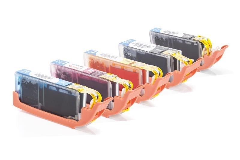 Kompatibel zu Canon PGI-550 / CLI-551 Tinten XL Spar-Set (Foto Schwarz, Schwarz, Cyan, Magenta, Gelb)