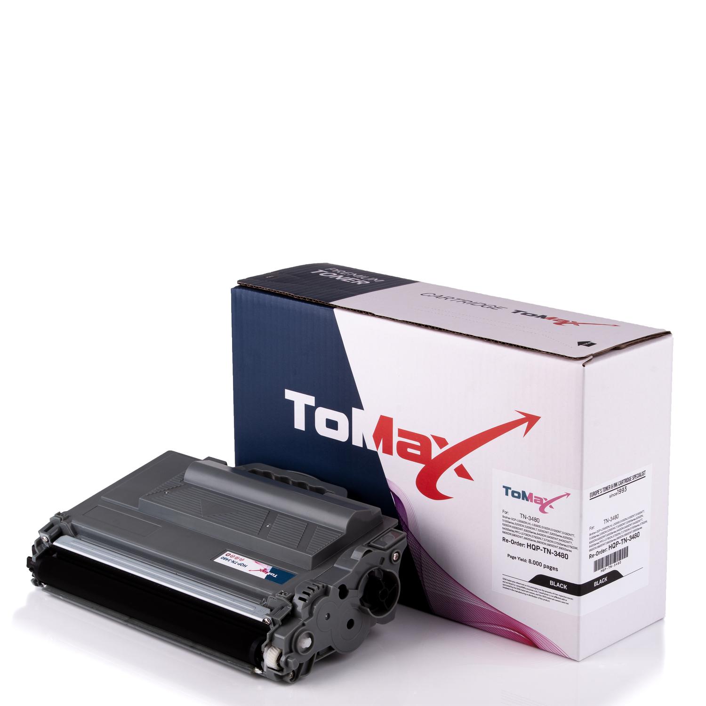 ToMax Premium Toner ersetzt Brother TN-3480 Schwarz