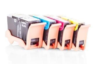 Kompatibel zu Lexmark 0014N1921E / NO100XL Tinte XL Spar-Set (Schwarz, Cyan, Magenta, Gelb)