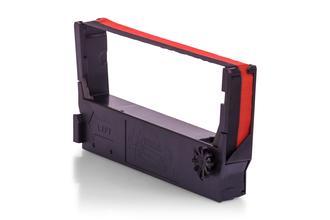Kompatibel zu Epson C43S015362 / ERC-23-BR Farbband Schwarz, Rot