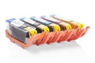 Kompatibel zu Canon CLI-521 Tinten Spar-Set (Foto Schwarz, Schwarz, Cyan, Magenta, Gelb)