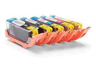 Kompatibel zu Canon 4540B001 / CLI-526BK Tinte Spar-Set (Schwarz, Schwarz Foto, Cyan, Magenta, Gelb)