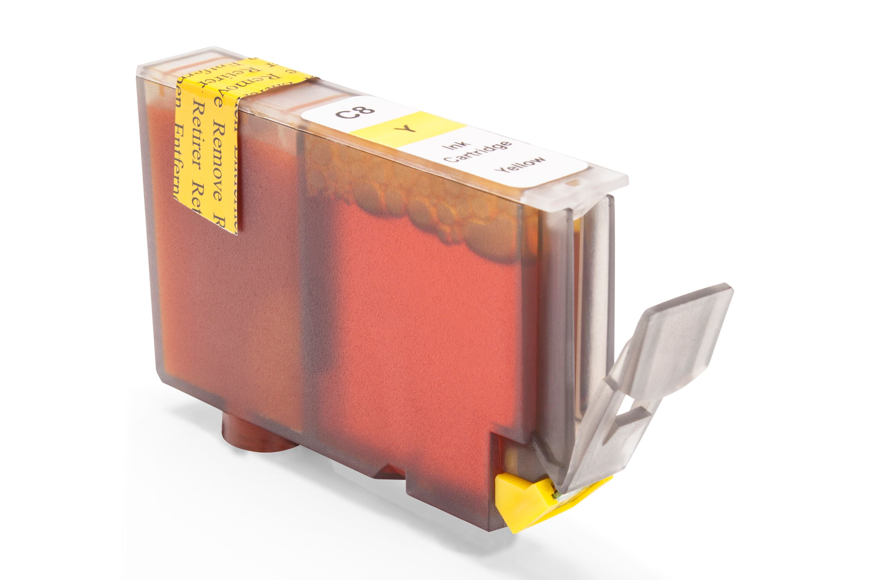 Kompatibel zu Canon 0623B001 / CLI-8Y Tintenpatrone gelb mit Chip