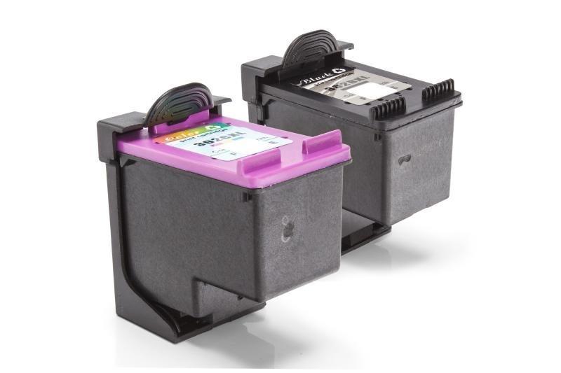 Kompatibel zu HP F6U67AE & F6U68AE / 302XL Tinte XL Spar-Set (Schwarz, Color)