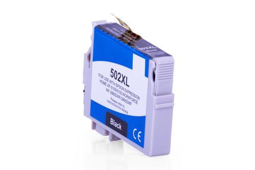 Kompatibel zu Epson C13T02W14010 / 502XL Tinte Schwarz XL