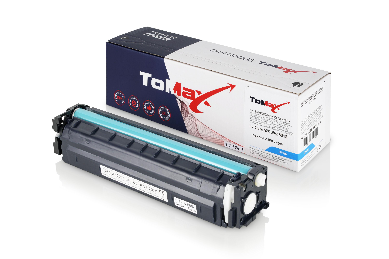 ToMax Premium Toner ersetzt HP CF401X / 201X Cyan