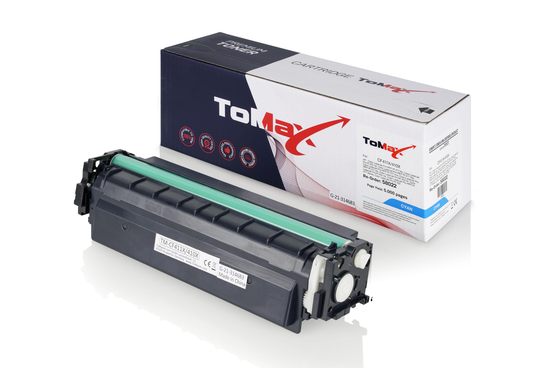 ToMax Premium Toner ersetzt HP CF411X / 410X Cyan