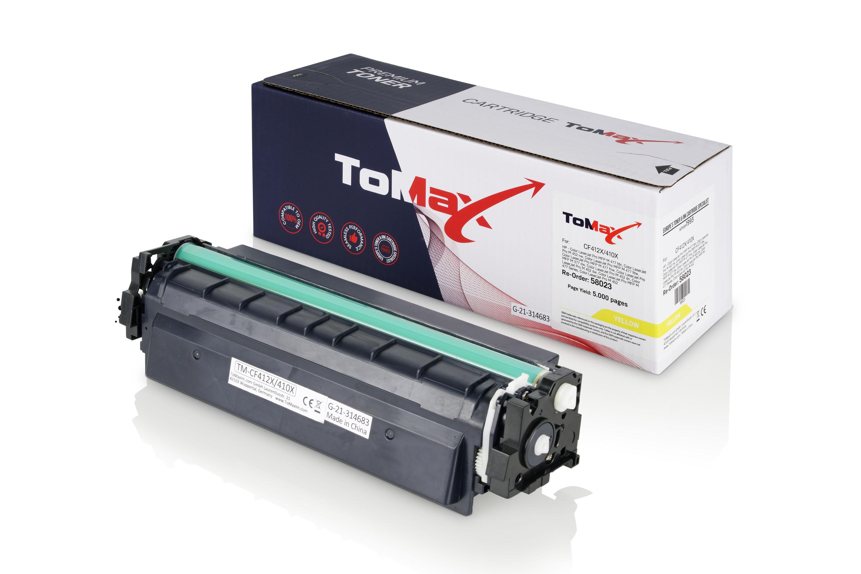 ToMax Premium Toner ersetzt HP CF412X / 410X Gelb