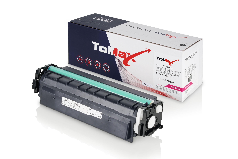 ToMax Premium Toner ersetzt HP CF413X / 410X Magenta