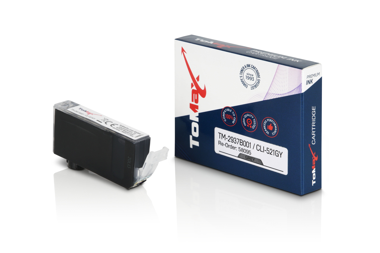 ToMax Premium Tintenpatrone ersetzt Canon 2937B001 / CLI-521 Grau