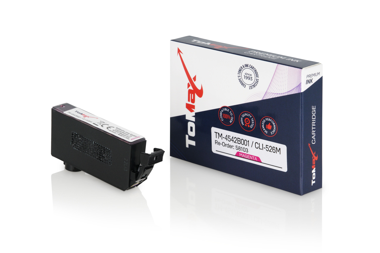 ToMax Premium Tintenpatrone ersetzt Canon 4542B001 / CLI526 Magenta