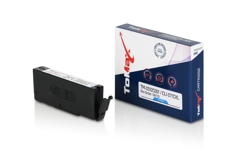 ToMax Premium Tintenpatrone ersetzt Canon 0332C001 / CLI571 XL Cyan