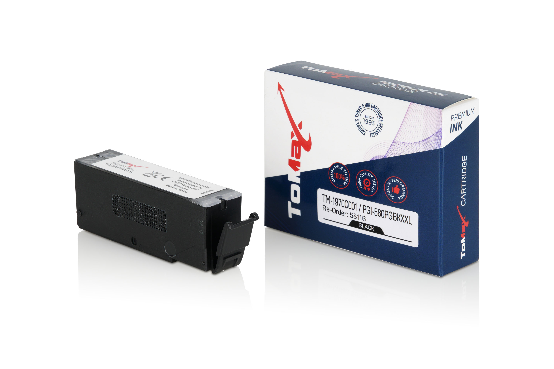 ToMax Premium Tintenpatrone ersetzt Canon 1970C001 / PGI580 XL Schwarz