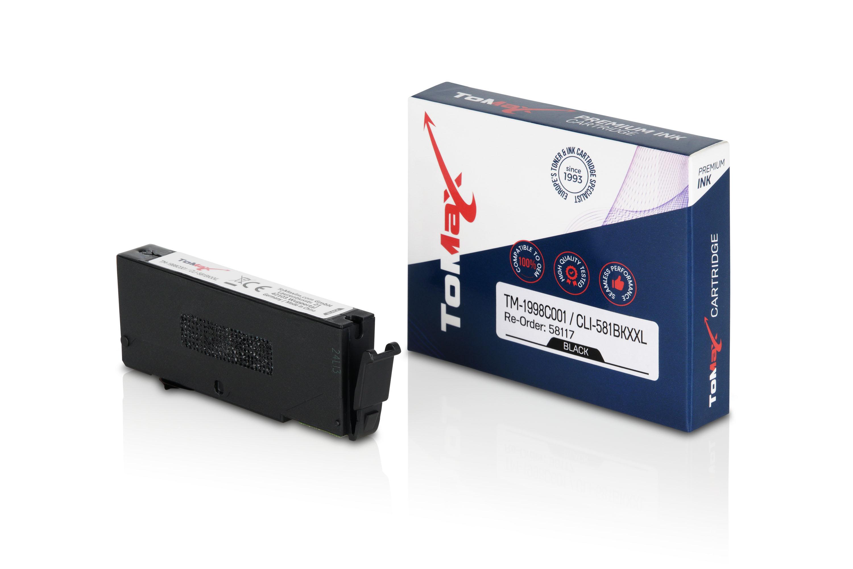 ToMax Premium Tintenpatrone ersetzt Canon 1998C001 / CLI581 XL Schwarz