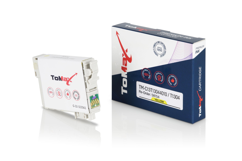 ToMax Premium Tintenpatrone ersetzt Epson C13T13044010 / T1304 XL Gelb