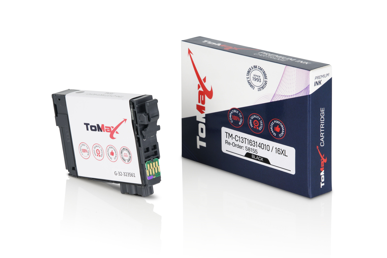 ToMax Premium Tintenpatrone ersetzt Epson C13T16314010 / 16XL Schwarz