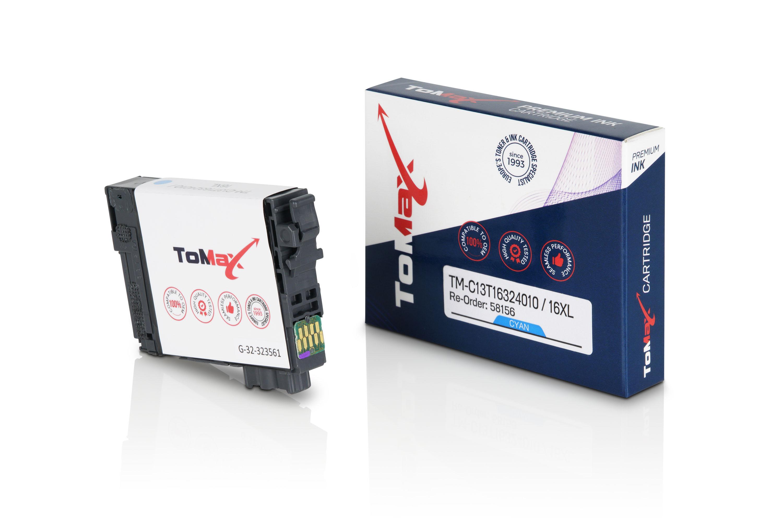ToMax Premium Tintenpatrone ersetzt Epson C13T16324010 / 16XL Cyan