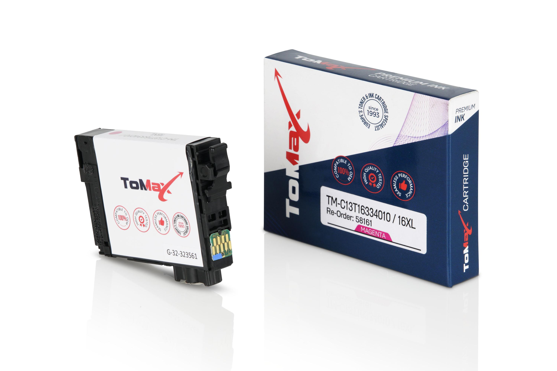ToMax Premium Tintenpatrone ersetzt Epson C13T16334010 / 16XL Magenta