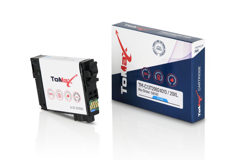 ToMax Premium Tintenpatrone ersetzt Epson C13T29924010 / 29XL Cyan