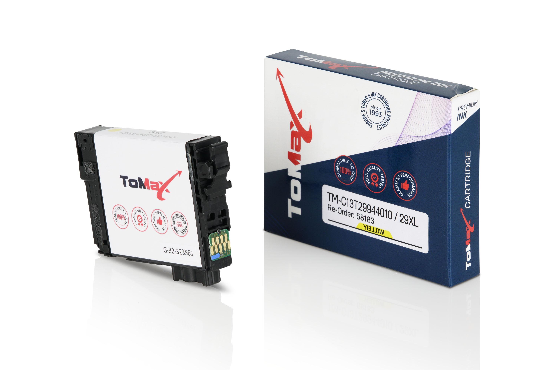 ToMax Premium Tintenpatrone ersetzt Epson C13T29944010 / 29XL Gelb