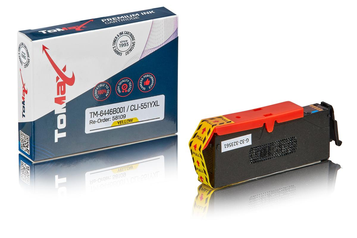 ToMax Premium ersetzt Canon 6446B001 / CLI-551YXL Tintenpatrone, gelb