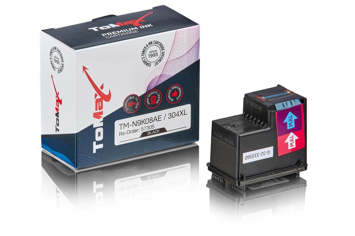 ToMax Premium ersetzt HP N9K08AE / 304XL Druckkopfpatrone, schwarz