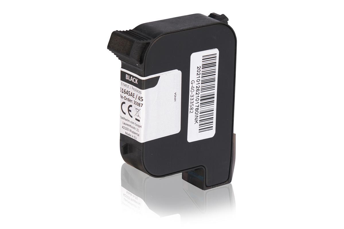 Kompatibel zu HP 51645AE / 45 Druckkopfpatrone, schwarz