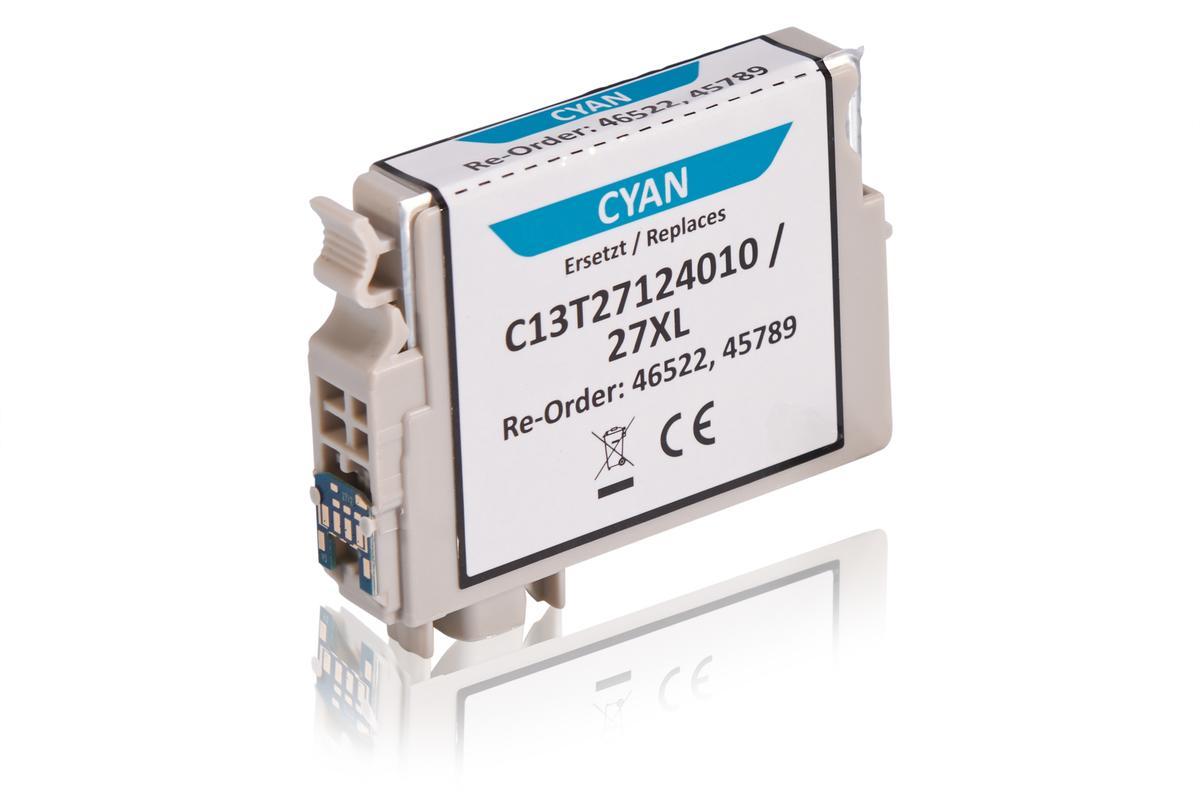 Kompatibel zu Epson C13T27124010 / 27XL Tintenpatrone, cyan