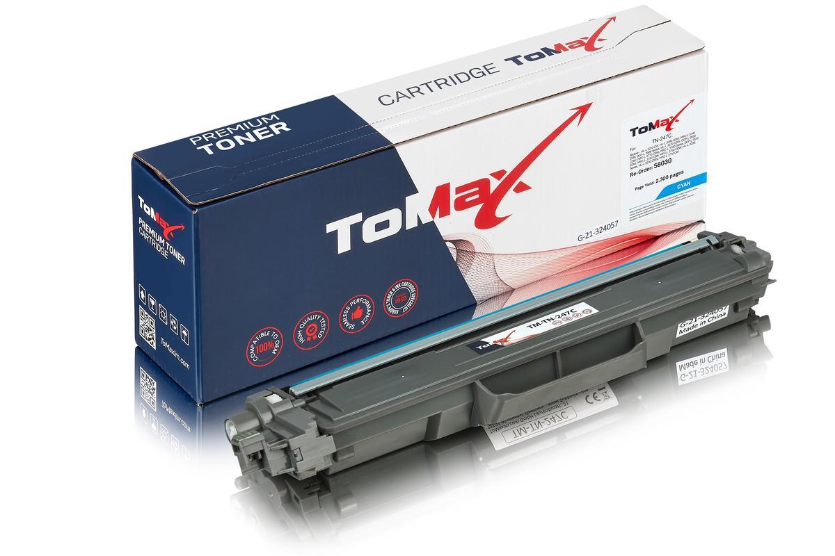 ToMax Premium alternative à Brother TN-247C Cartouche toner, cyan