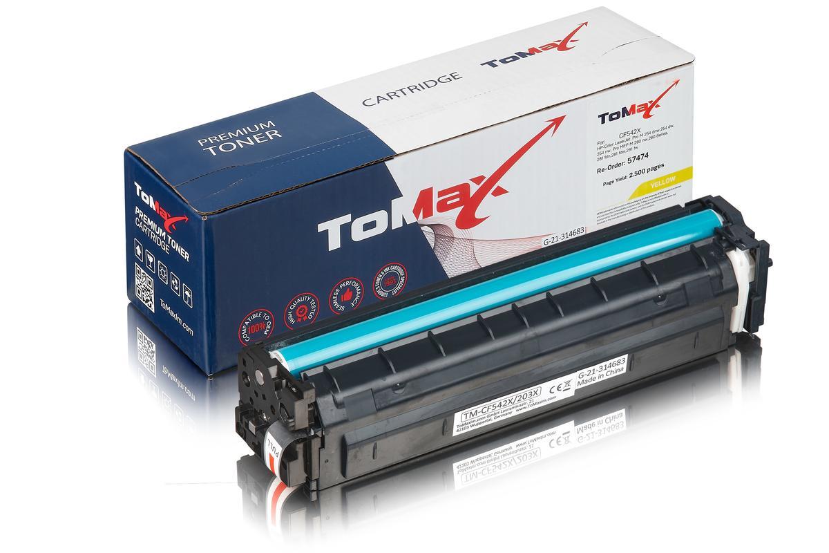 ToMax Premium ersetzt HP CF542X / 203X Toner, gelb
