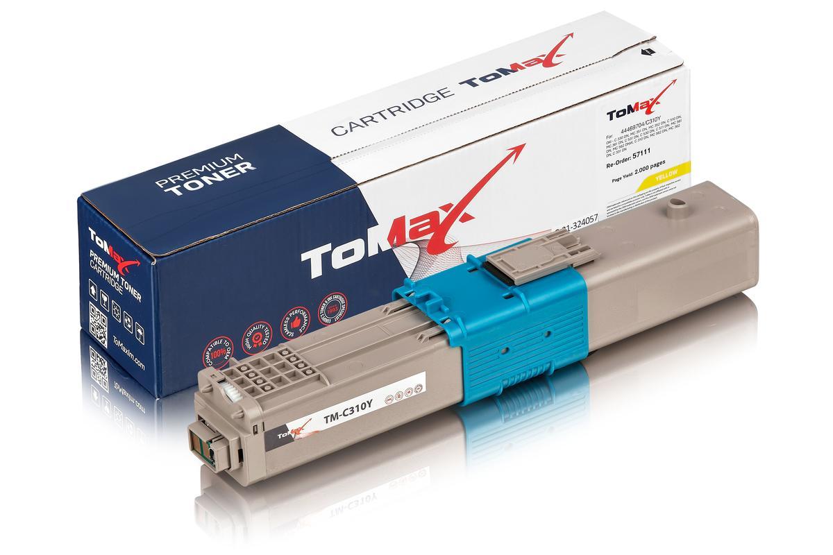 ToMax Premium ersetzt OKI 44469704 / C310 Toner, gelb
