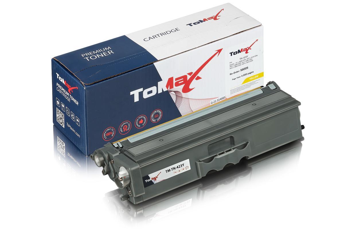 ToMax Premium ersetzt Brother TN-423Y Toner, gelb