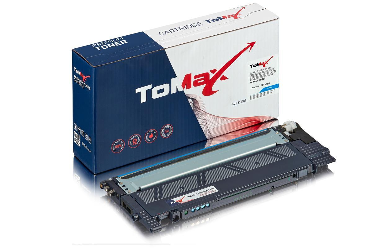 ToMax Premium ersetzt Samsung CLT-C406S/ELS / C406 Toner, cyan