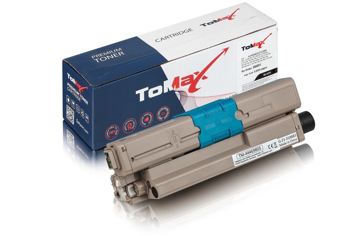 ToMax Premium ersetzt OKI 44469803 / C530 Toner, schwarz