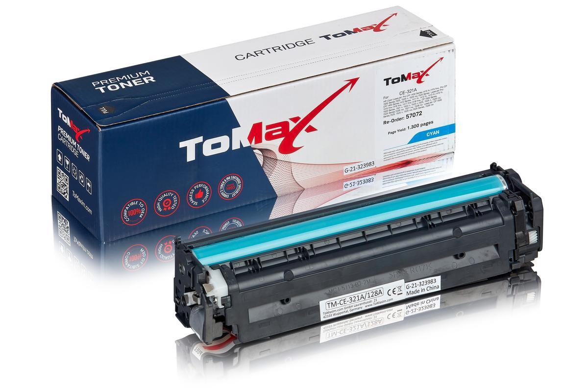 ToMax Premium ersetzt HP CE321A / 128A Toner, cyan