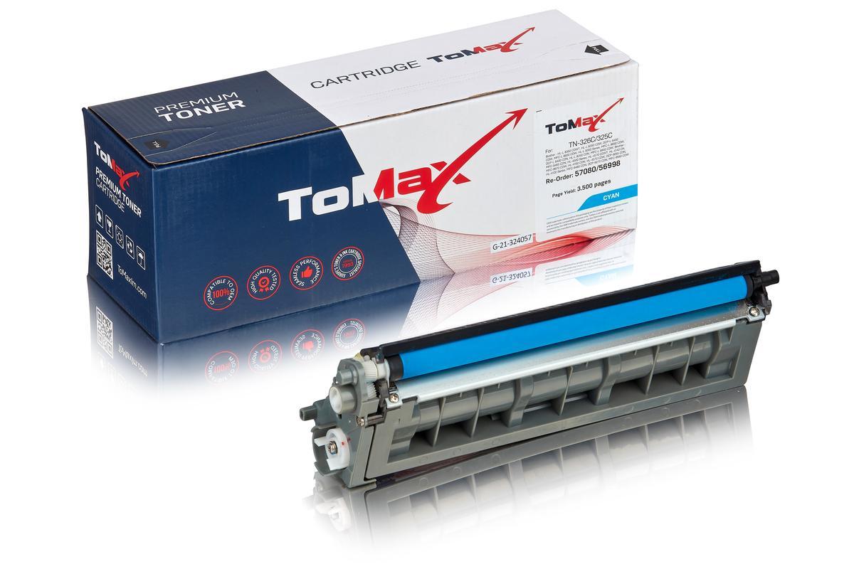 ToMax Premium ersetzt Brother TN-325C Toner, cyan