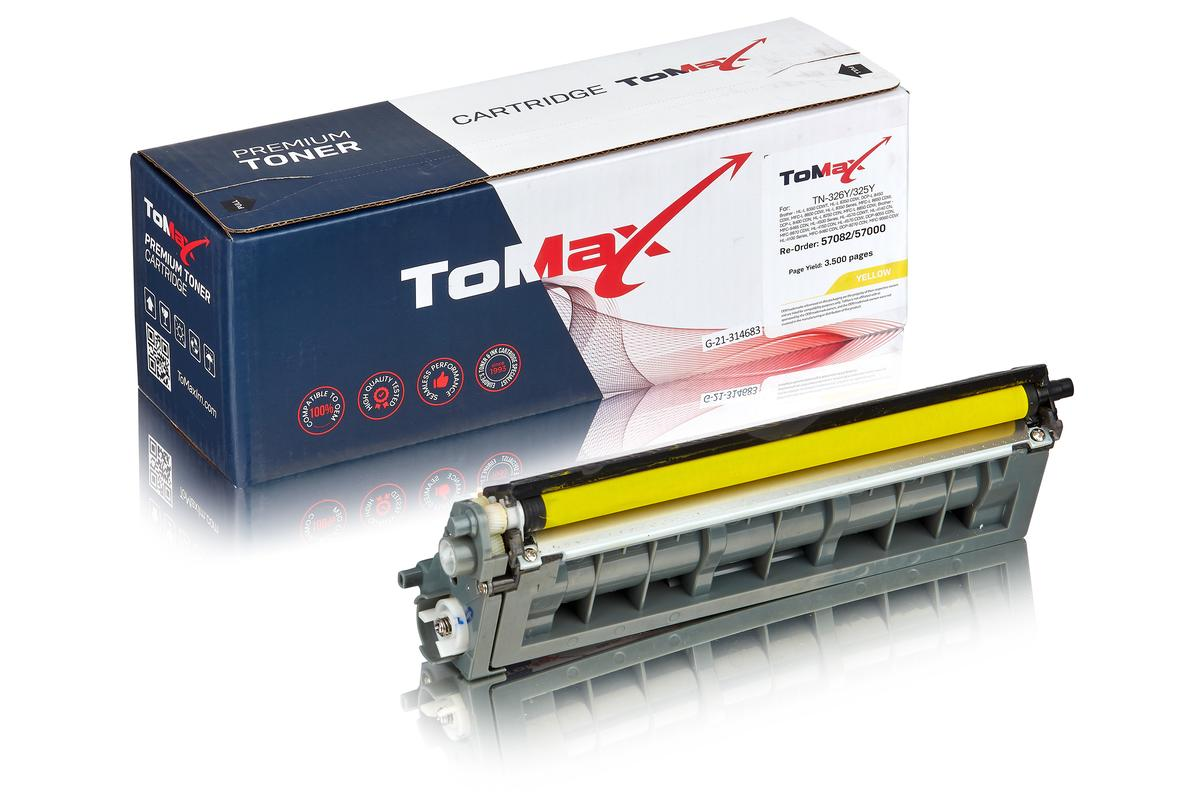 ToMax Premium ersetzt Brother TN-325Y Toner, gelb